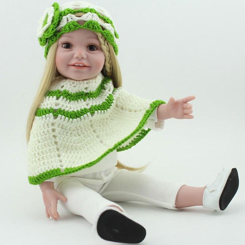 ФОТО 17inch kaiwai silicone reborn doll american girl baby doll handmade newborn bonecas baby lifelike toys brinquedos free shipping