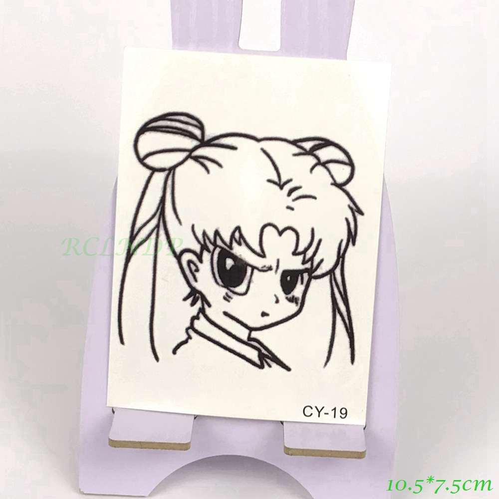 Waterproof Temporary Tattoo lovely girl Sailor Moon tatto stickers flash tatoo fake tattoos for girl women lady kid