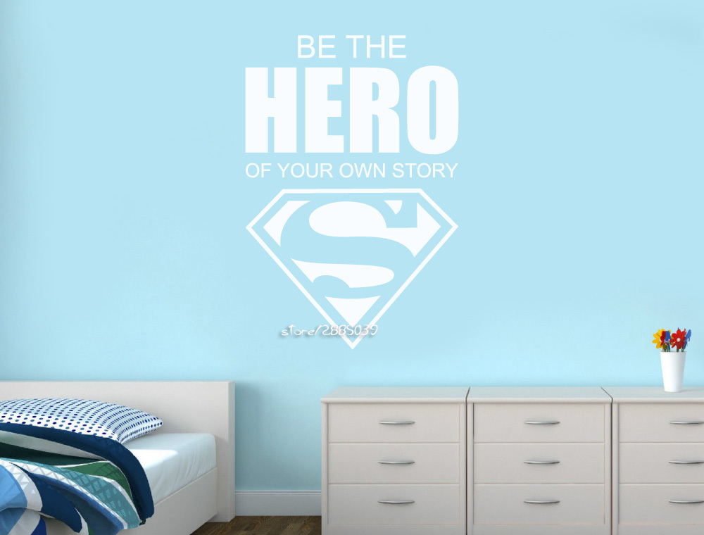 Online Get Cheap Superhero Wall Decals For Kids Rooms Aliexpress - Superhero vinyl wall decals