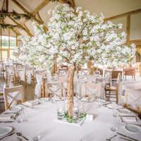 Новые искусственные вишневые цветы имитация дерева поддельные персиковые деревья для домашнего декора и свадебные украшения