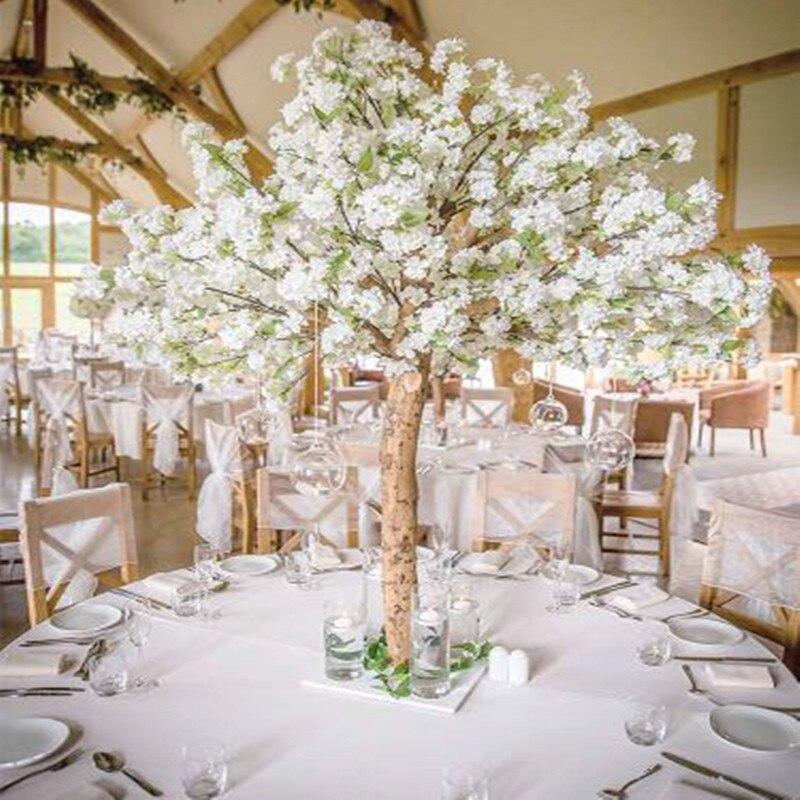 Nouvelles fleurs de cerisier artificielles Simulation d'arbre faux pêche souhaitant des arbres pour la décoration de la maison et des centres de mariage décorations