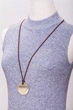 2017 Women Jewelry statement necklace Women Bronze pendant fashion vintage choker long rope necklaces & pendants for women