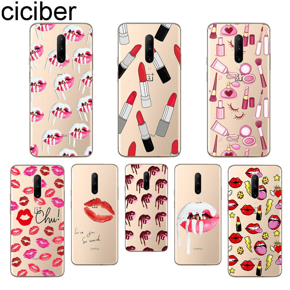 ciciber Kylie Jenner Lips Phone Cases For font b Oneplus b font font b 7 b