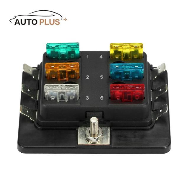 universal 1 power in 6 way blade fuse box holder m5 stud standard rh aliexpress com 2013 bmw m5 fuse box e39 m5 fuse box location