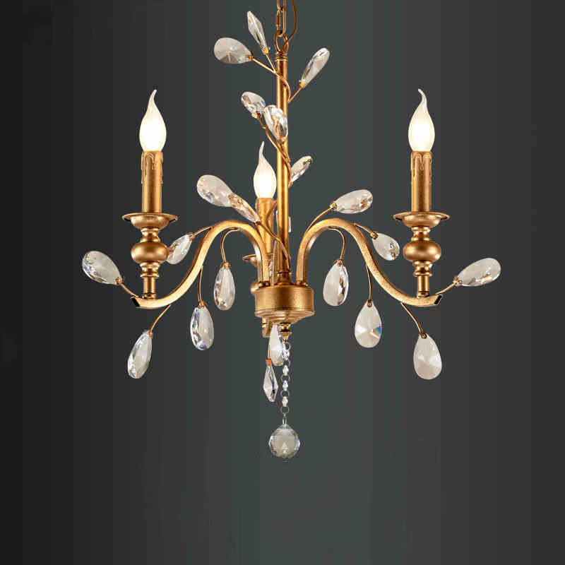 American Rural Originality Personality Crystal Chandelier Northern Europe Bedroom Restaurant Aisle Chandelier Free Shipping simple post modernity iron restaurant bar cafe originality personality northern europe annular hall chandelier freeshipping