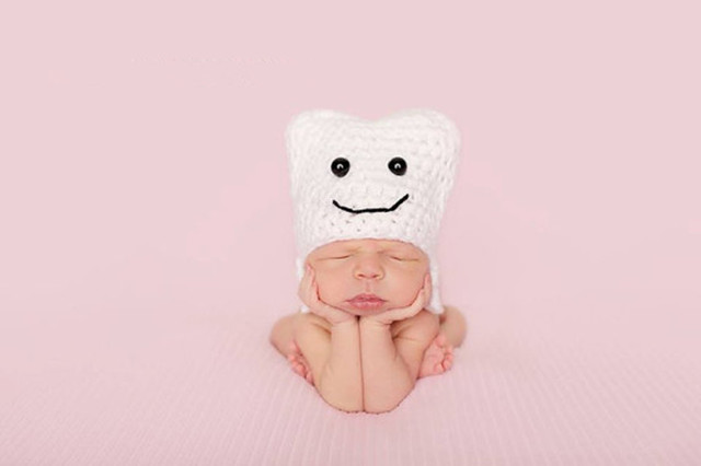Baby girl prop baby boy prop newborn tooth hat baby tooth hat dentist newborn prop crochet