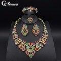 Alta calidad beautif Collar Anillo Del Pendiente Del Brazalete Fino Dubai sistemas de la joyería de Perlas chapado en oro Africano Plateó Boda