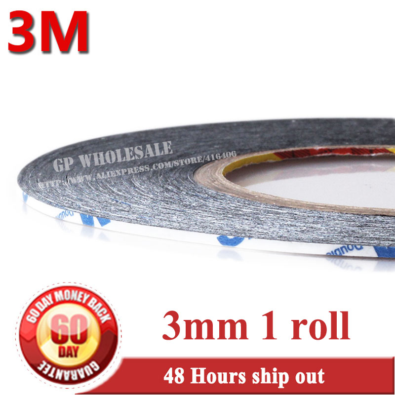 American 3M Double-sided Tape 9448 3mm*50m Ultra-thin Mobile Phone Repair Powerful Stickers Special LCD/Touch Screen Tape 1x 76mm 50m 3m 9448 black two sided tape for cellphone phone lcd touch panel dispaly screen housing repair