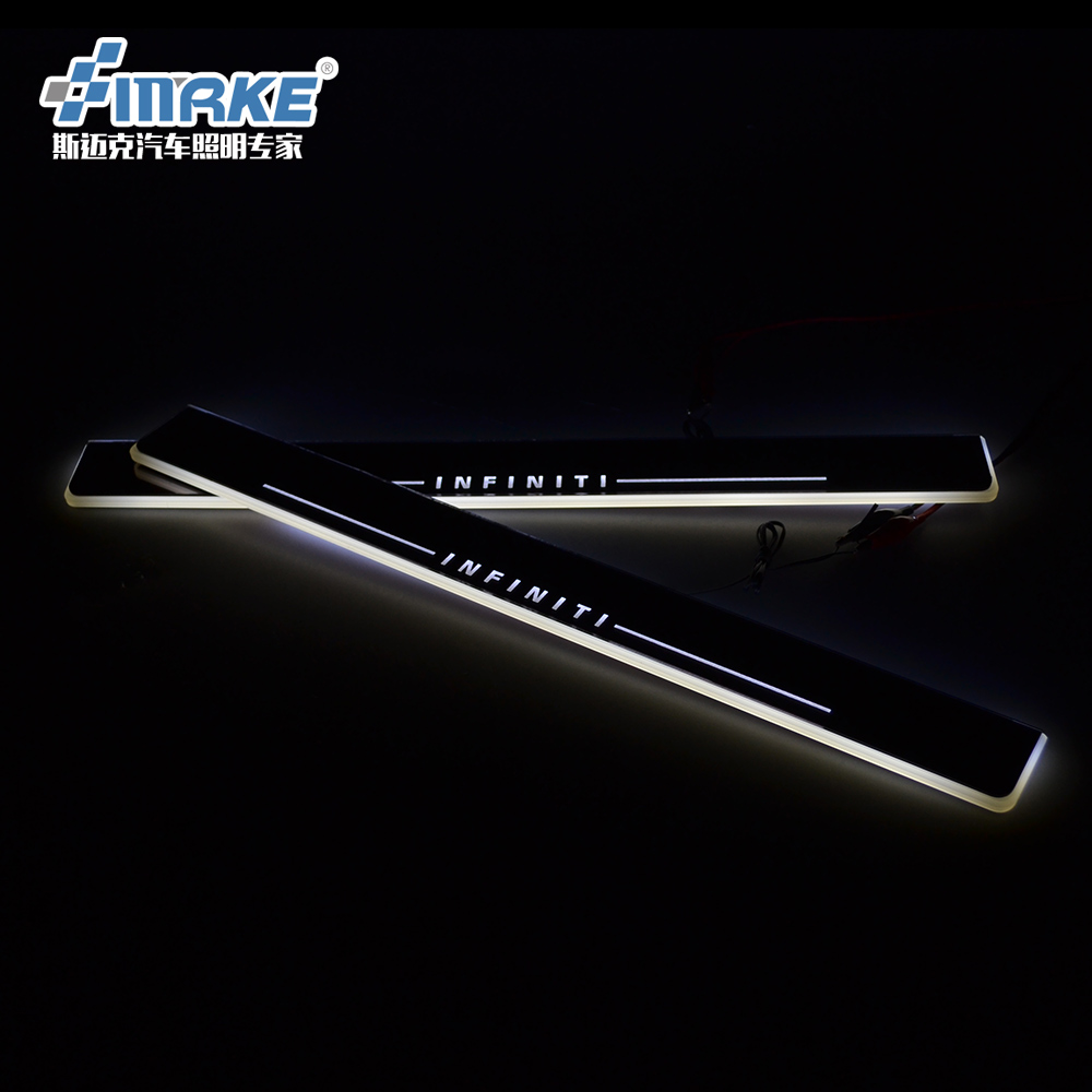 Qirun acrylic led moving door scuff welcome light pathway lamp door sill plate linings for Infiniti Q50 Q70 2013 2014 2015 free ship rear door of high quality acrylic moving led welcome scuff plate pedal door sill for 2013 2014 2015 audi a4 b9 s4 rs4 page 7