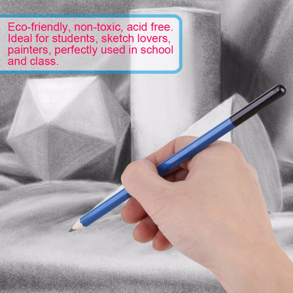 Image 5 - 48 個鉛筆プロの描画スケッチ鉛筆キットスケッチグラファイト炭鉛筆スティック消しゴム文房具描画用品標準鉛筆   -