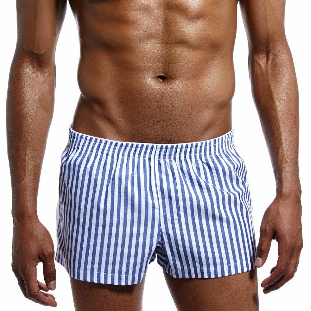 Summer 100% Cotton Sleep Bottoms Men Sleep Shorts Casual Men Loose Pants Leisure Stripes Home Underwear Men's Sleep & Lounge