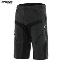 ARSUXEO мужские спортивные велосипедные шорты для активного отдыха горные MTB шорты износостойкие горные велосипедные шорты Водонепроницаемос...