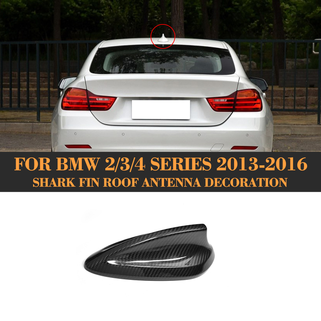 2 3 4 series Rear Roof Antenna Aerial Carbon Fiber Molding Trim for BMW F22 F32 F30 F31 F35 F32 F33 13-16 228i 325i 435i 440i