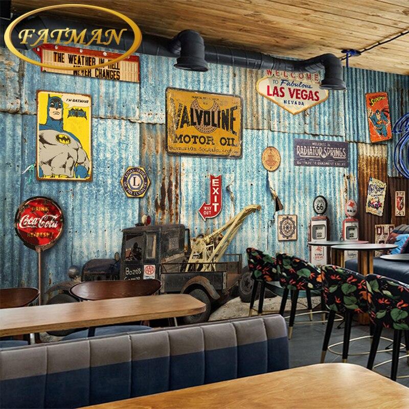 photo wallpaper 3D Retro truck mural sofa TV background wall lobby mural interior decoration wallpaper