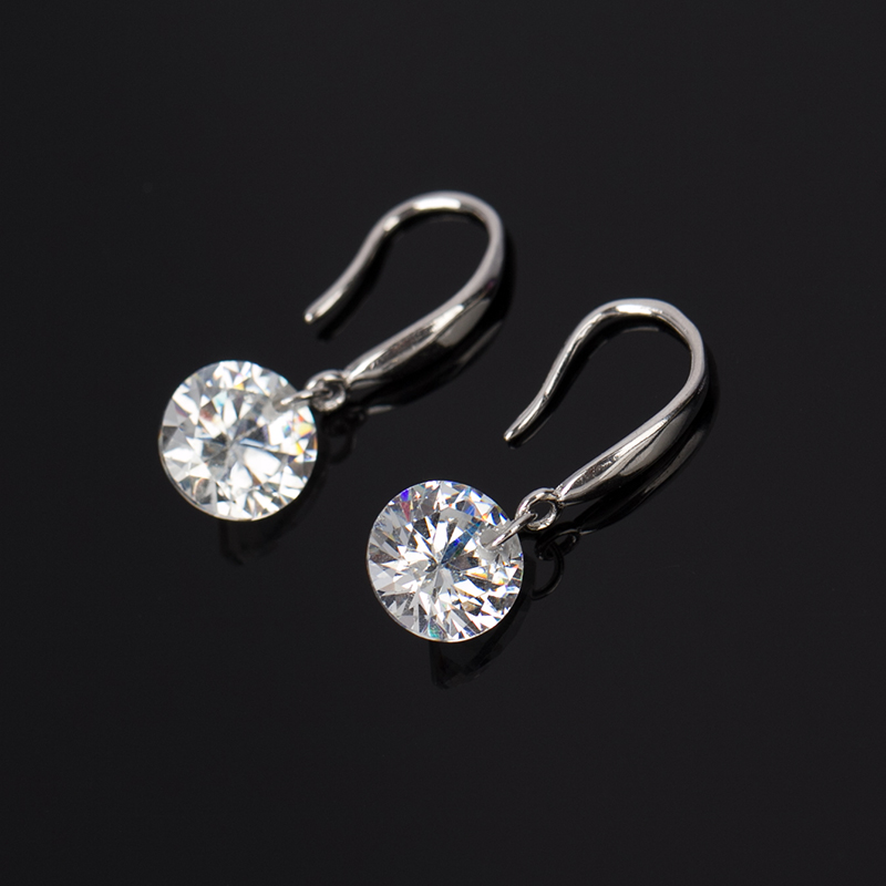 TOP boucle d oreille femme silver plated earring crystal stud large earring  emale rhinestone women natural stone earings  E117-in Stud Earrings from  Jewelry ... 6bff22250c90