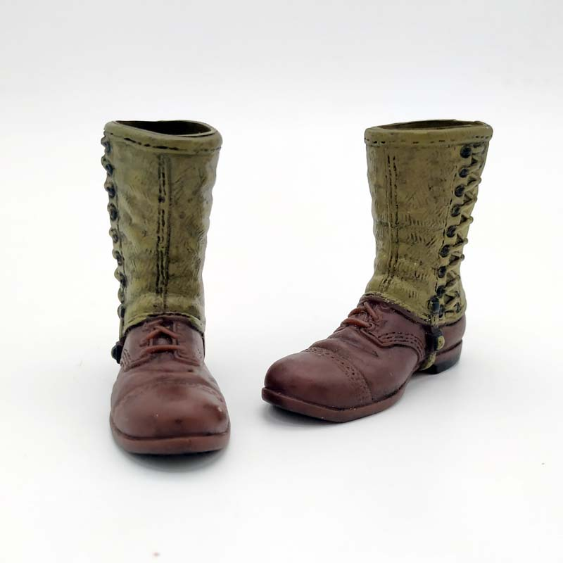 """DML 1//6 Scale Brown Boots Model Hollow for 12/"""" Action Figure"""