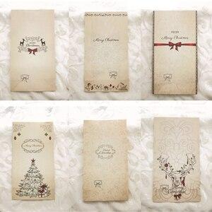 Image 2 - New 6 cái/bộ Kraft Túi Giấy Giáng Sinh Vui Vẻ Quà Tặng Túi Đảng Lolly Favour Bowknot Wedding Bao Bì 22x12x6 cm Mix