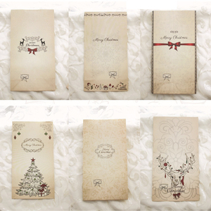 Image 2 - New 6pcs/set Kraft Paper Bag Merry Christmas Gift Bags Party Lolly Favour Bowknot Wedding Packaging 22x12x6cm Mix
