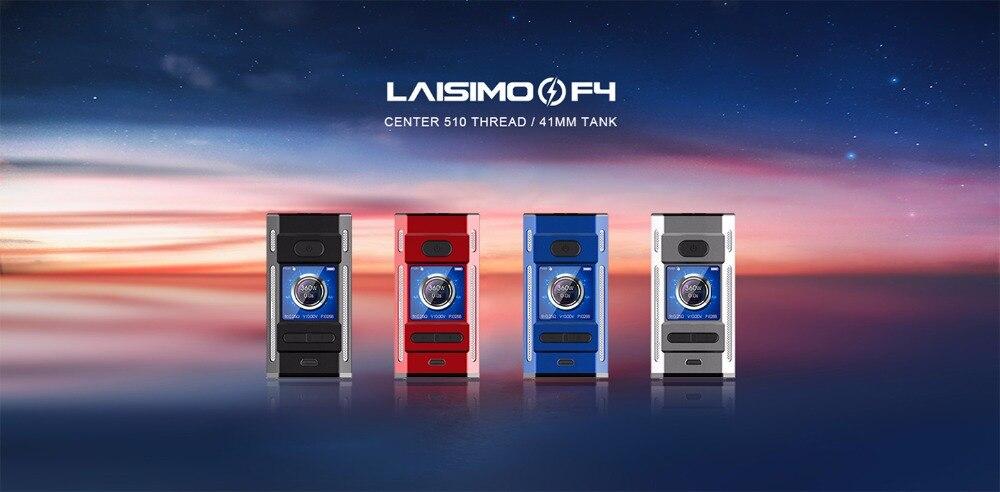 NOUVEAU Laisimo F4 360 W TC Boîte Mod boîte de cigarette électronique mod 360 w alimenté par 2 OU 4 Batteries fit pour ammit RTA SIRÈNE V2 RÉSERVOIR