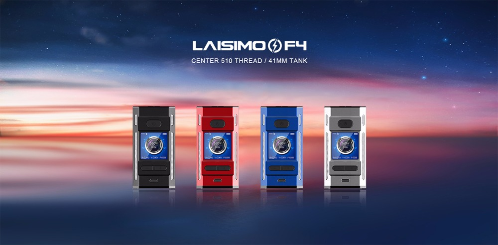 Nouveau Laisimo F4 360 W TC Box Mod boîte à cigarettes électronique mod 360 w alimenté par 2 ou 4 Batteries adaptées pour ammit RTA sirène V2 réservoir