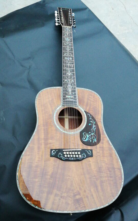 buy 12 string guitar solid koa wood 12 string acoustic guitar acoustic. Black Bedroom Furniture Sets. Home Design Ideas