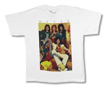 Queen Old School Early Glam Band Pic White T Shirt New Official Band Merch 2018 New Fashion Men'S T-Shirts Short Sleeve