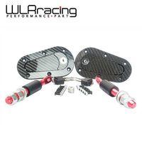 WLRING TIENDA-D1 Nuevo Universal Racing Lock Plus Kit Flush Capucha Pasador, de Fibra De carbono, JDM estilo con clave WLR-BPK-D41