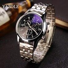 Yazole marque de luxe hommes horloge complet en acier inoxydable étanche hommes Quartz Business Watch montre homme montre Relogio masculino