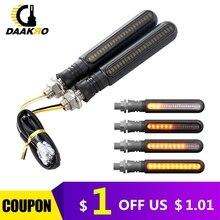 LED دراجة نارية بدوره أضواء الإشارة الاكريليك واحد 12 مؤشر LED ضوء بدوره إشارة تيار مستمر 12 فولت الأصفر تدفق المياه مقابل حقيبة