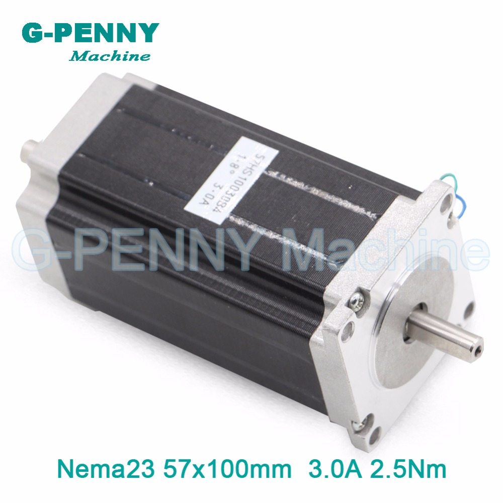 цена на CNC NEMA 23 Double shaft stepper motor 57X100mm 3A  2.5N.m stepping motor 357Oz-in for CNC Router engraving  machine 3D Printer