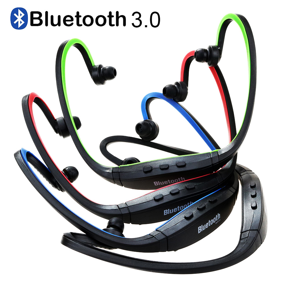 Sport Bluetooth Headsets Wireless Bluetooth 3.0 Earphone Headphones for iPhone Samsung iOS/Android with Microphone bluetooth wireless sunglasses w earphone polarized glasses for iphone samsung android ios smartphones black a pair of earphones