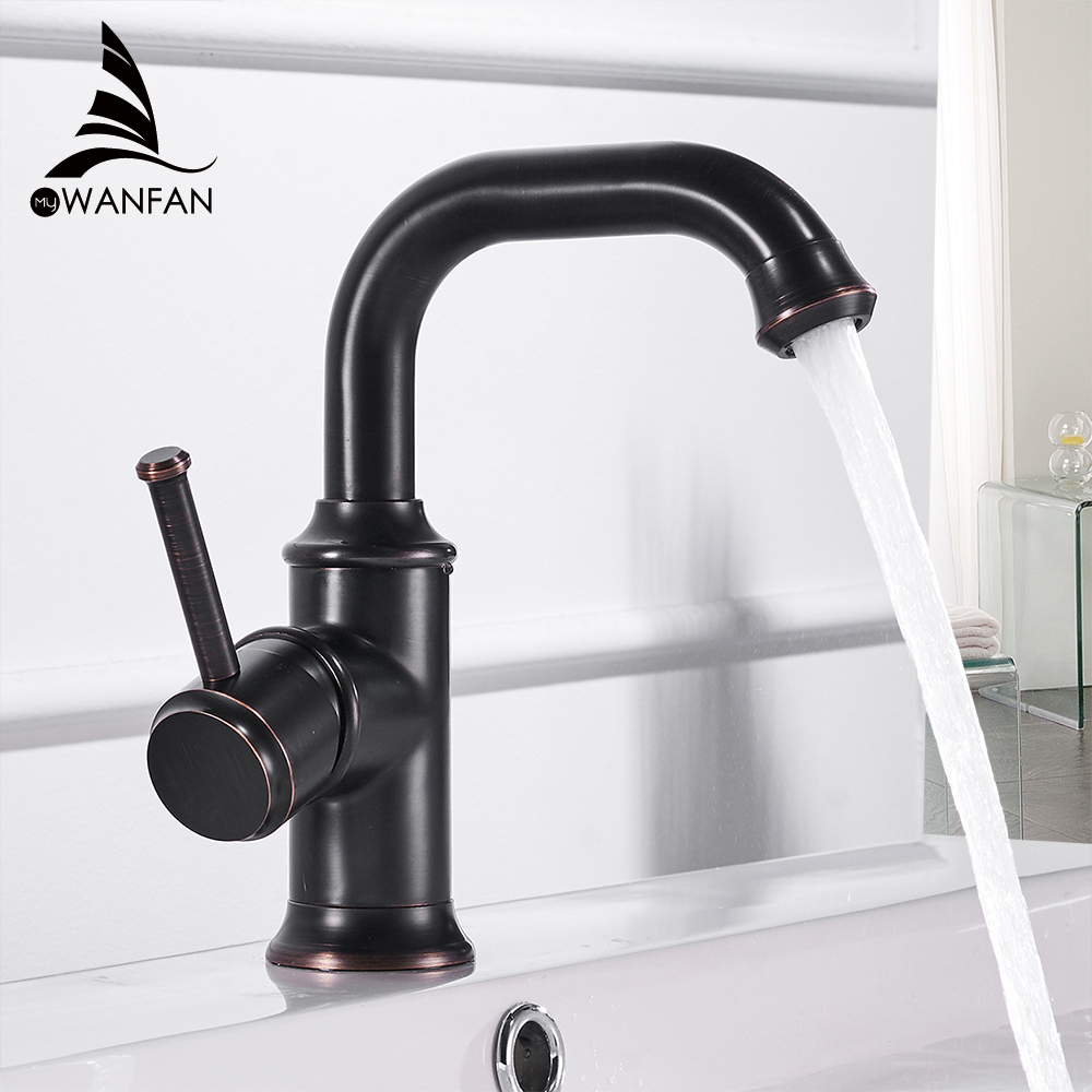 Basin Faucets Antique Color Brass Crane Bathroom Faucets Hot And Cold Water Mixer Tap Contemporary Mixer Tap Torneira WF-18061