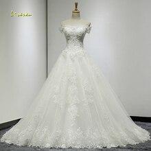 Loverxu Robe De Mariee Sexy Boat Neck Wedding Dresses 2019