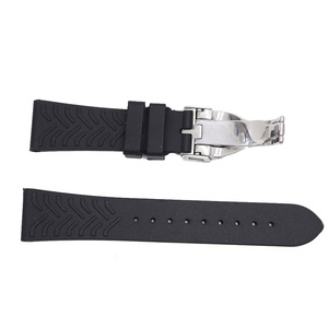 Image 5 - Ремешок для наручных часов Rolamy, 22 мм, черный, водонепроницаемый, силиконовый, с застежкой для Тюдора
