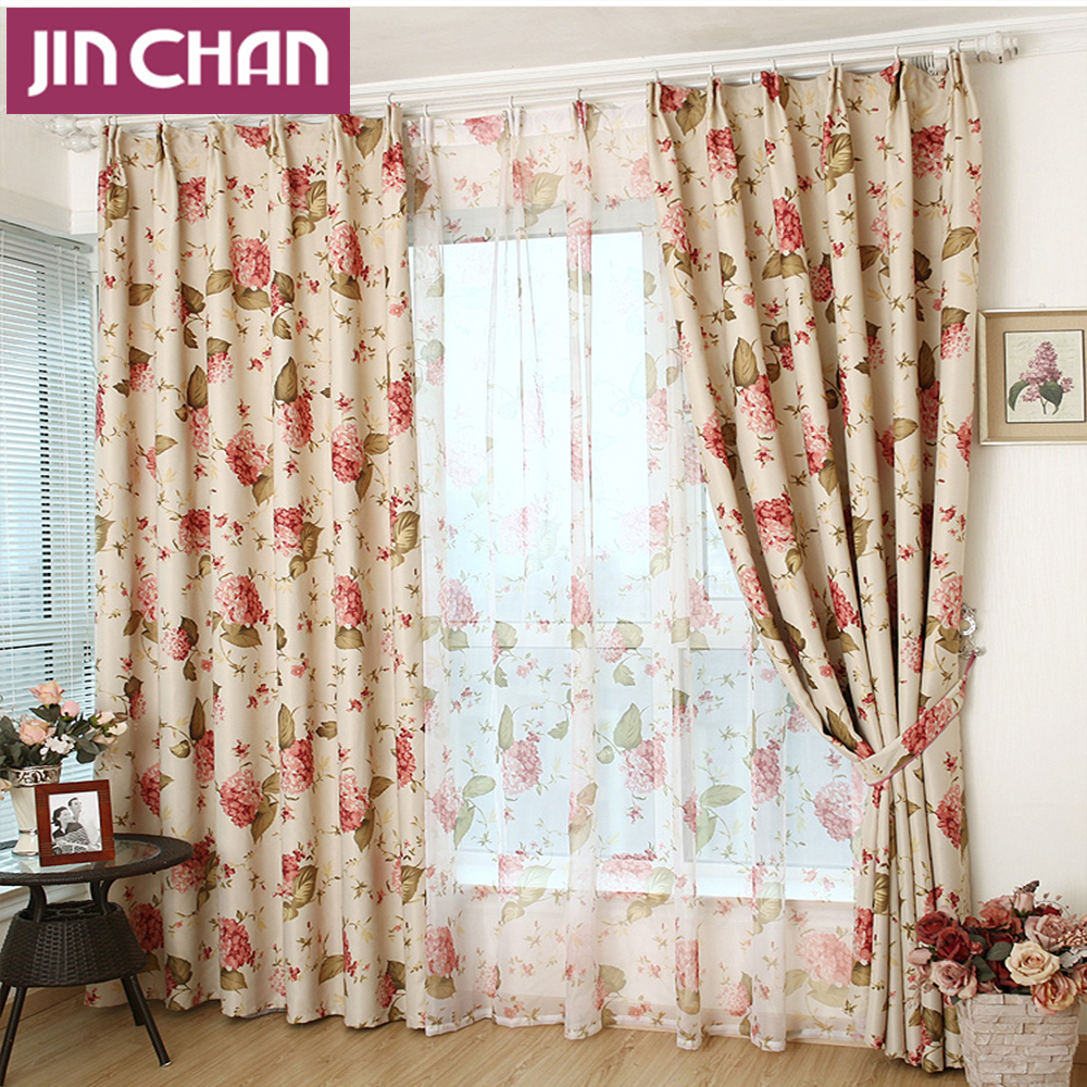 European Style Floral Blackout Window Curtains Drapes Shades for ...