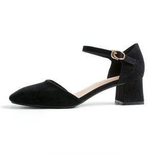 599a396294d High heels Single shoes Female mid heel women pumps black