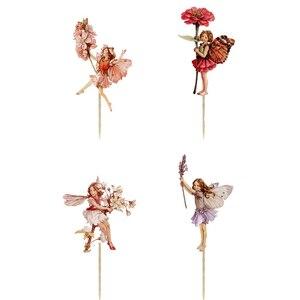 24 шт., вечерние цветы, феи для девочек, кексы, пики для торта, Детские вечеринки на день рождения, Вечерние Декорации