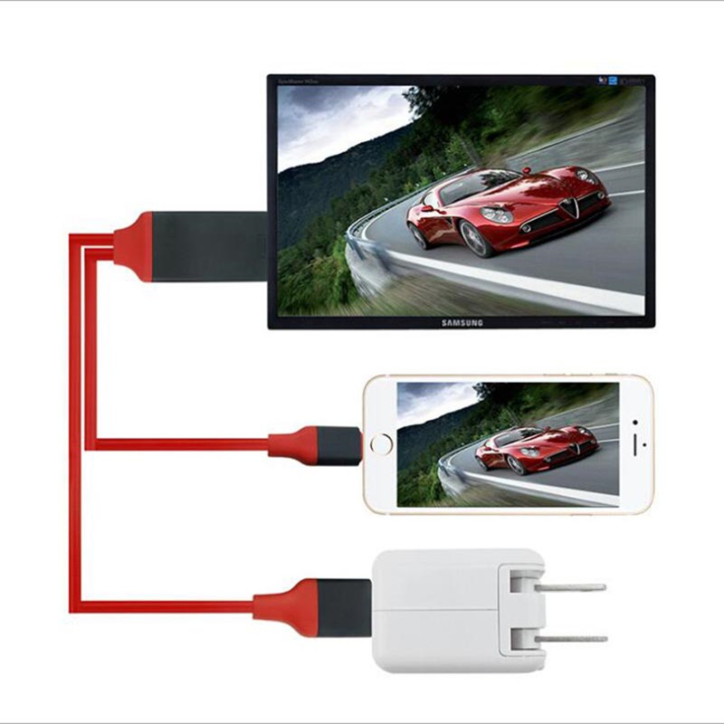 Cable Tv-Stick IPhone Samsung Receivers HDMI 8-Plus 1080P For HDTV 8-Pin X