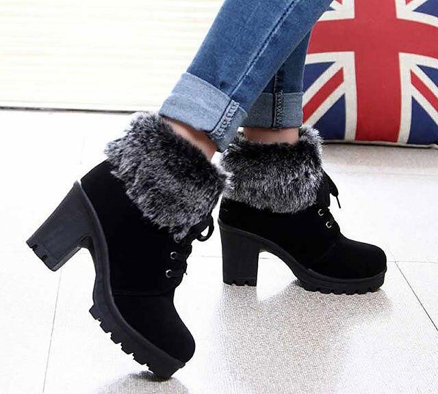 New-Design-Women-High-Heel-Boots-2018-Plush-Lace-Up-Keep-Warm-Winter-Fashion-Women-Boots