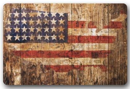 Us 1359 32 Offmemory Home Machine Washable Door Mat American Flag Usa Flag On Old Barn Wood Indoor Outdoor Doormat Bathroom Kitchen Decor Rug In