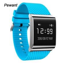 Presión arterial pewant smart watch reloj de pulsera de vigilancia de la salud de oxígeno de la sangre para ios android teléfono con el podómetro smartwatch