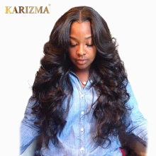 Karizma Brazilian Body Wave 100% Human Hair Bundles 1 Piece Hair Weave Natural Color Can Be Dye 8-28inch Non Remy Hair Extension