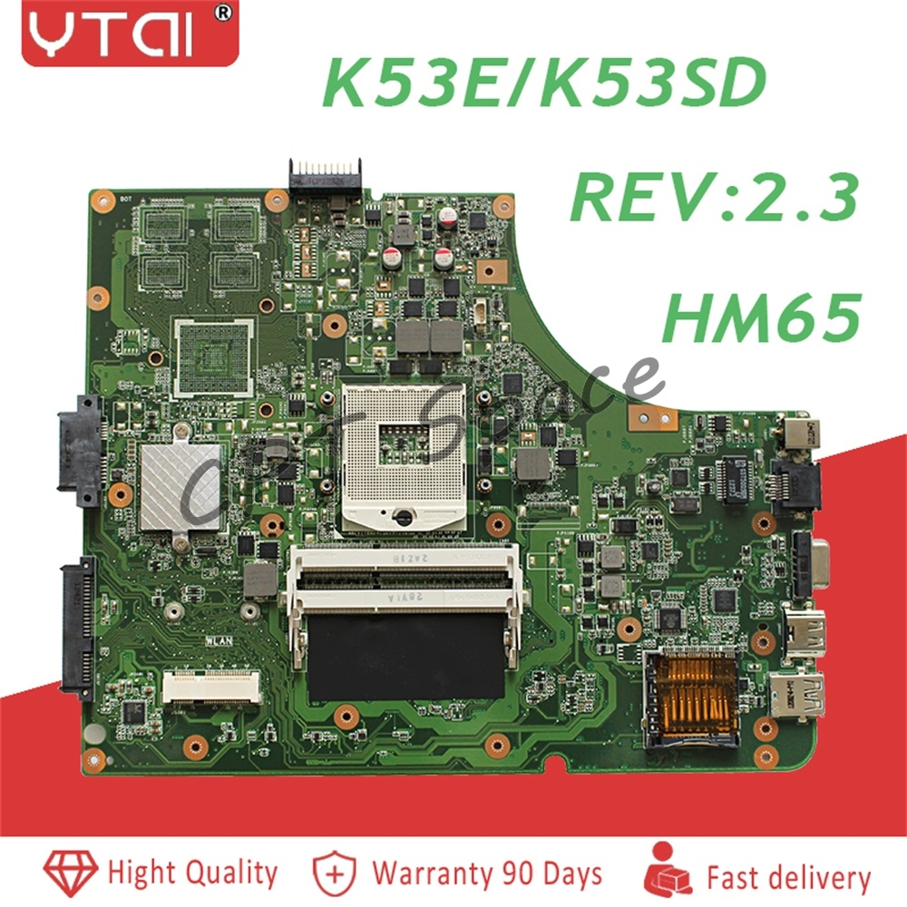 K53E Motherboard Rev: 2.3 HM65 ASUS A53S K53S A53E K53SD laptop Motherboard Mainboard K53E K53E Motherboard teste 100% K53E Motherboard Rev: 2.3 HM65 ASUS A53S K53S A53E K53SD laptop Motherboard Mainboard K53E K53E Motherboard teste 100%