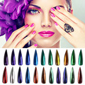 Chrome Nail Powder Polvo Del Espejo Nails Glitter Polvo de Uñas para Uñas Nail Art Pigmento de Cromo Vtirka SF00030 Pulido Espejo