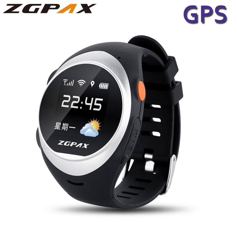 ZGPAX S888 Smart Watch With SOS GPS Smartwatch S888 Anti Failing Alarm Tracker For Man Woman