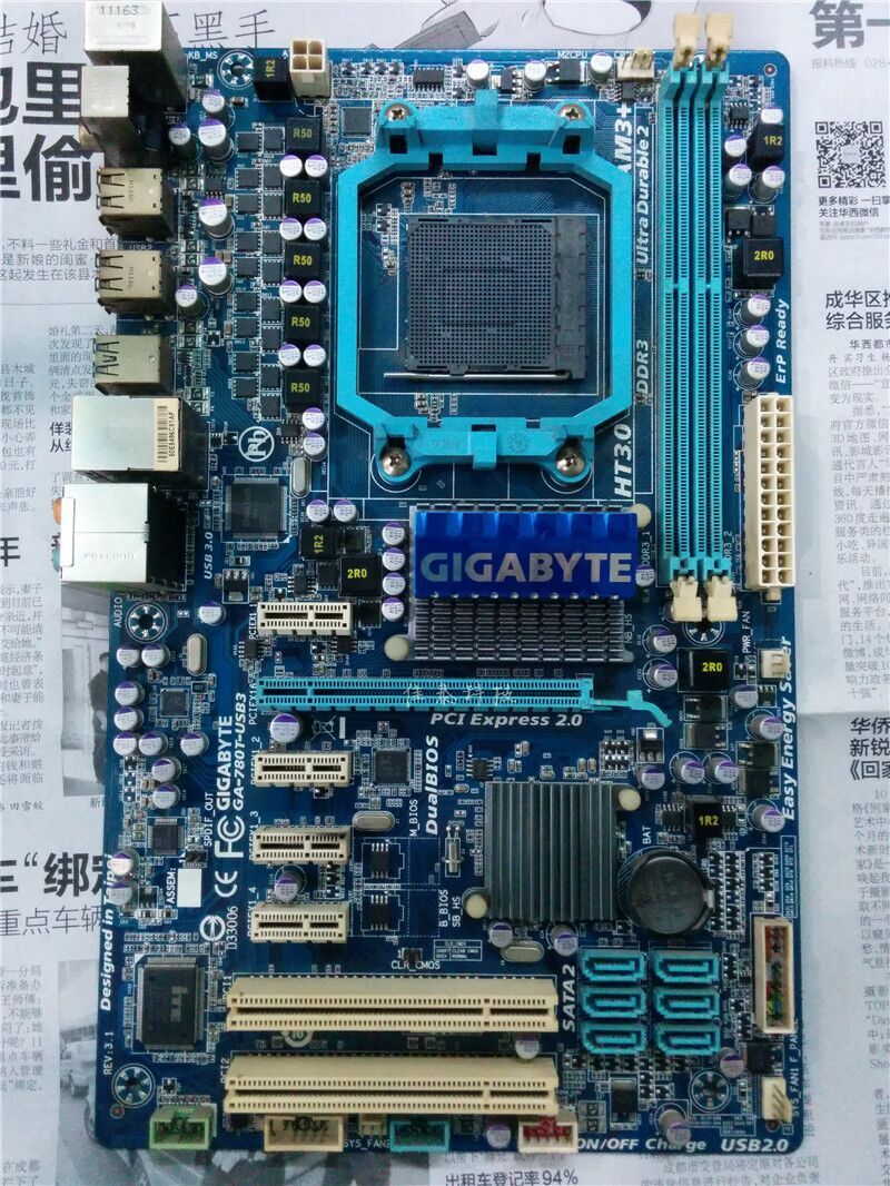 100% original Free shipping desktop motherboard for Gigabyte GA-780T-USB3 780T-USB3 DDR3 Socket AM3+ original for ga ma78lm s2 desktop motherboard 940pin am2 am3 ddr2 100% tested