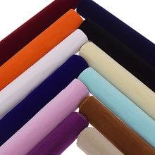 Veludo adesivo pegajoso para trás, tecido interlinante de veludo com adesivo para mobília, decoração de superfície