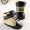4 Colores Inferiores Suaves Alas de Ángel Bebé Mocasines de Cuero de LA PU Para Las Niñas Niños Primeros Caminante Newborn Prewalker Infantil Zapatos de Los Niños