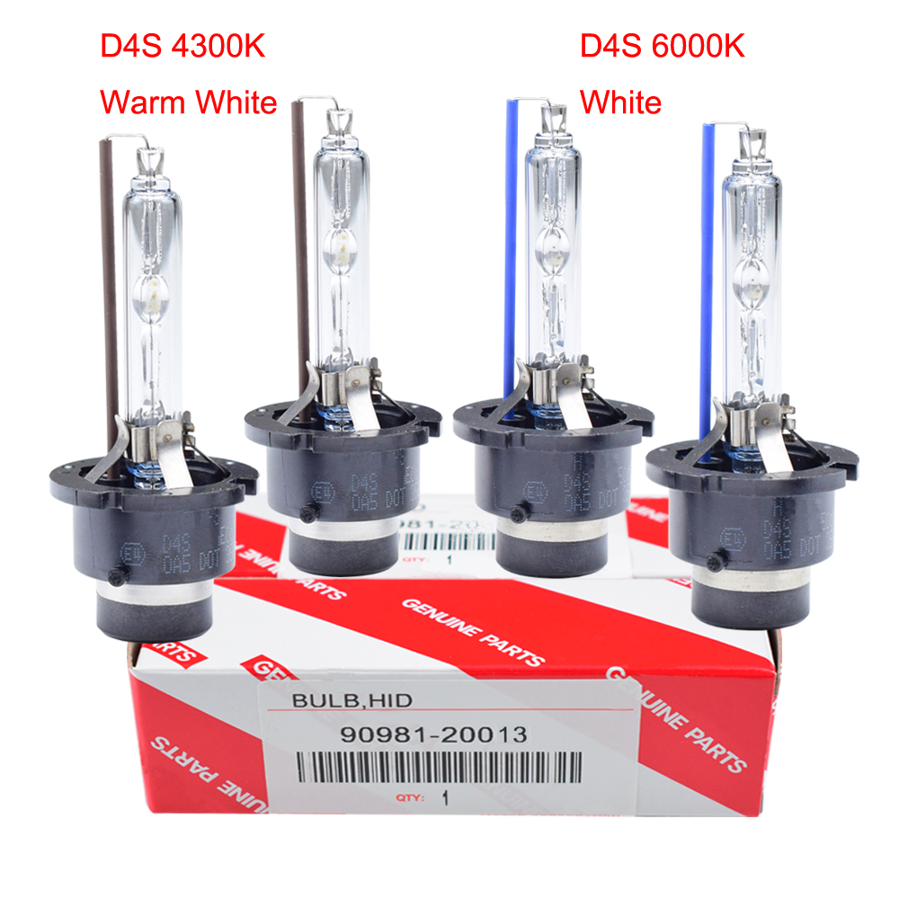 2pcs/lot Car Headlights Xenon <font><b>D2S</b></font> D4S D2R D4R HID Bulb Lamp 4300K <font><b>6000K</b></font> 90981-20005 90981-20008 90981-20013 90981-20029 image