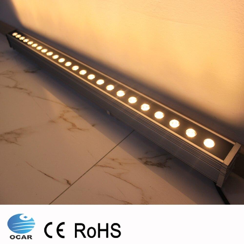 1M 108W LED Wall Washer Landscape light AC 24V AC 85V-265V outdoor lights wall linear lamp floodlight 100cm wallwasher